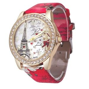Accessories - Bling Rhinestone Accented Eiffel Tower Ladies Wome